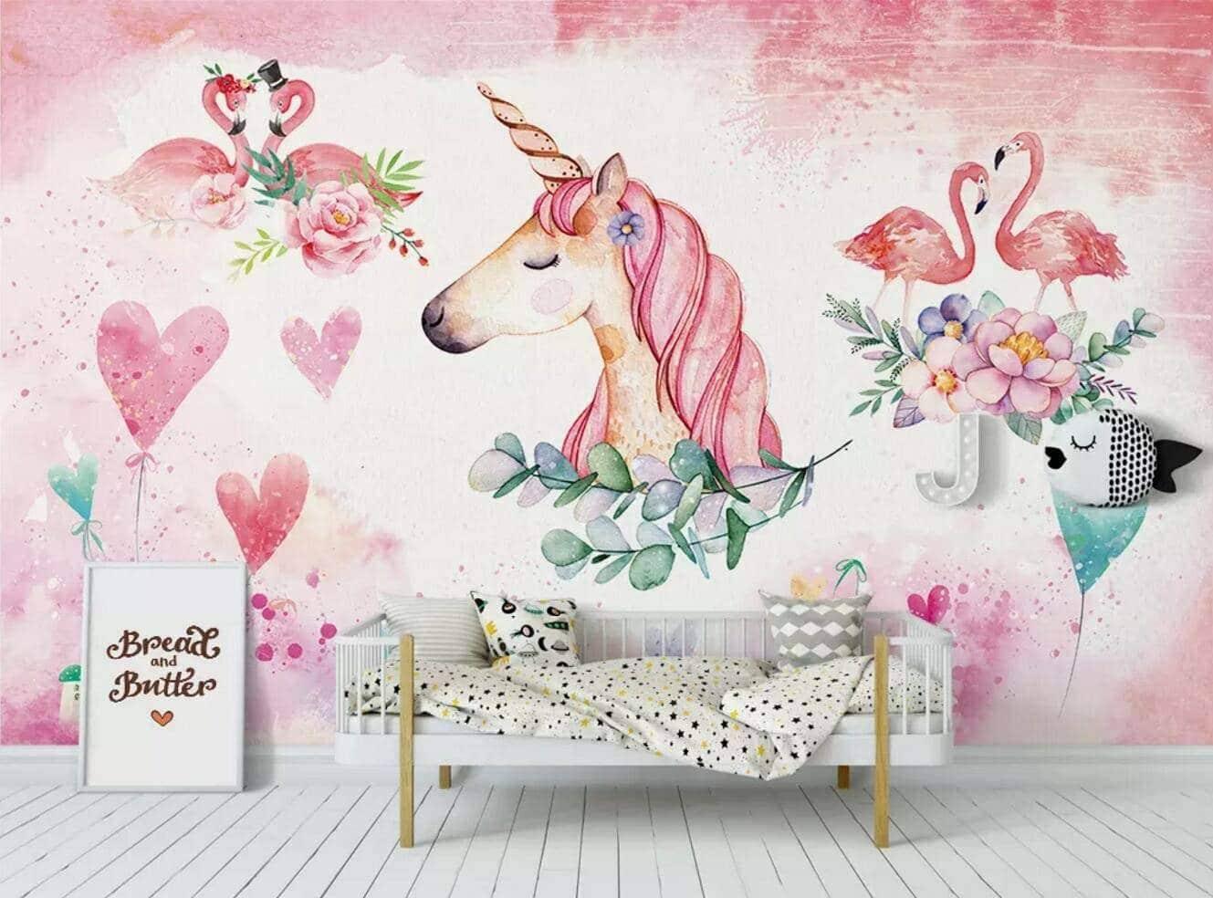 décoration chambre licorne